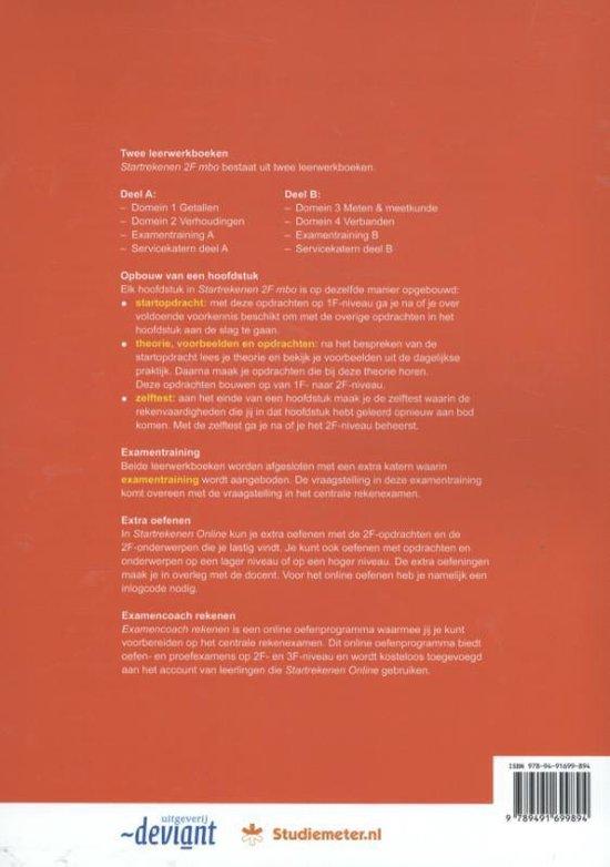Startrekenen 2F mbo Leerwerkboek rekenen deel A - Irene Lugten