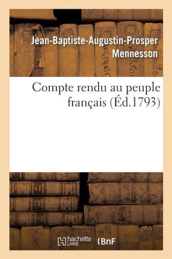 Compte rendu au peuple francais