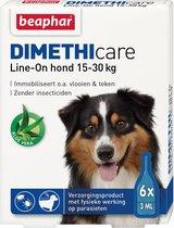 Beaphar Dimethicare Line-on Vlooien- en Tekenmiddel Hond - 15 Tot 30 kg - 6 Pipetten