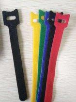 20 stuks Kabelbinders klittenband 12x150 mm Mix (5 kleuren)