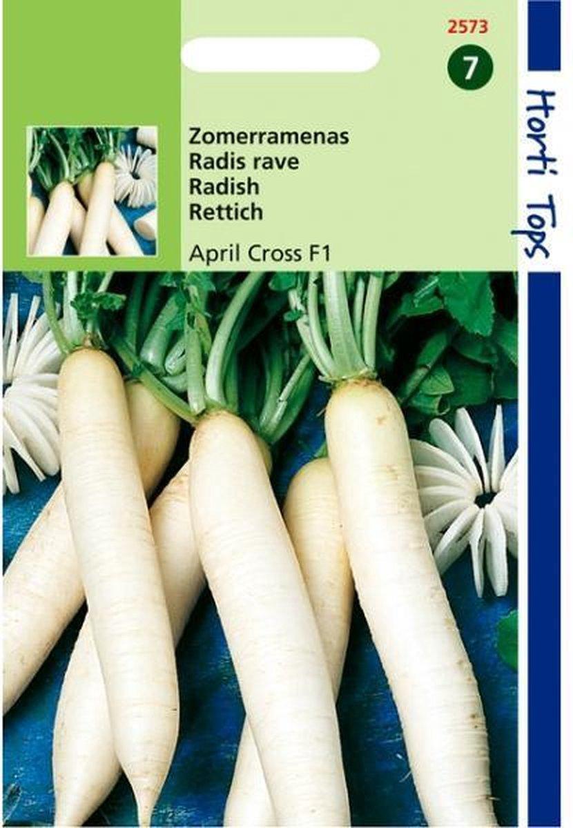 Zomerramenas April Cross F1 - Raphanus sativus - set van 5 stuks