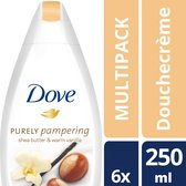 Dove Purely Pampering Sheabutter & Vanille Douchecrème - 6 x 250 ml - Voordeelverpakking