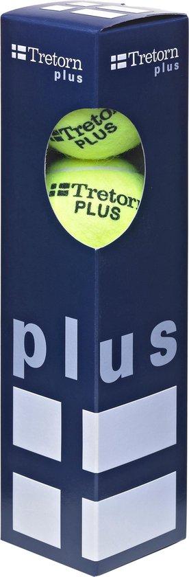 Tretorn Plus - Tennisballen - 4 stuks - Geel