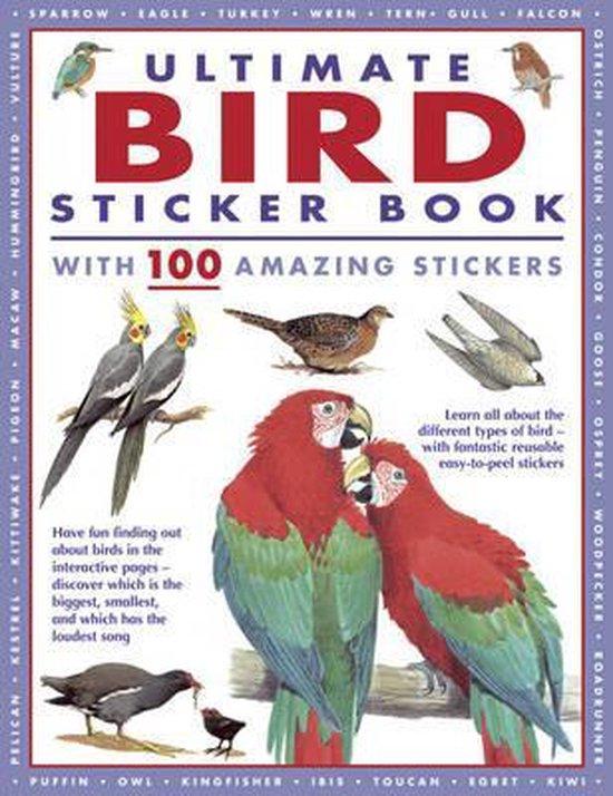 Boek cover Ultimate Bird Sticker Book van Armadillo / Import (Paperback)
