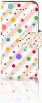 iPhone 5C Bookcase Hoesje Design Dots