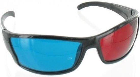 1 Stuk - Rood Cyaan 3D Bril Zwart YOO038