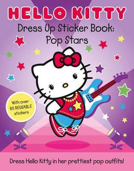 Boek cover Hello Kitty Pop Stars (Dress Up Sticker Book) van Onbekend (Paperback)