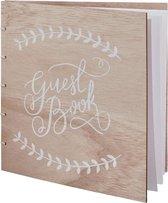 Boho Houten huwelijks gastenboek