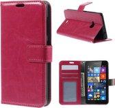 Cyclone wallet hoesje Microsoft Lumia 535 roze