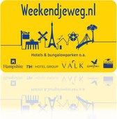 Weekendjeweg.nl Cadeau Card €100 - enveloppe verpakking
