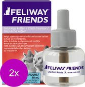 Feliway Friends Navulling - Anti stressmiddel - 2 x 48 ml
