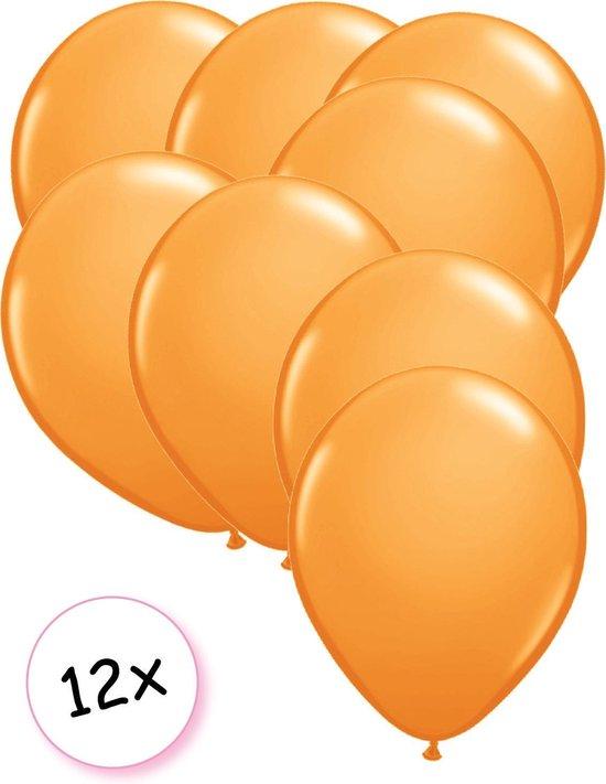Ballonnen Oranje 12 stuks 27 cm