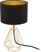 EGLO Carlton 2 Tafellamp - 1 Lichts - Ø165mm. - Messing - Zwart, Goud