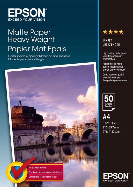 Epson C13S041256 - Papier heavyweight - A4 / 167g/m