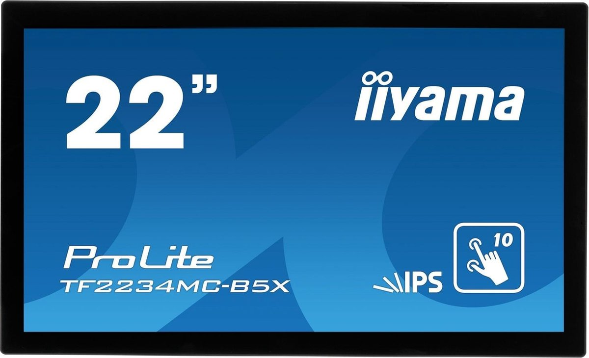 iiyama ProLite TF2234MC-B5X touch screen-monitor 54,6 cm (21.5) 1920 x 1080 Pixels Multi-touch Multi-gebruiker Zwart