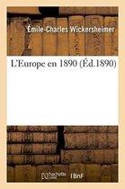 L'Europe en 1890