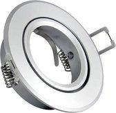 Inbouw spot GU10 - aluminium - rond armatuur - gepolijst - zilver/zilver 95mm