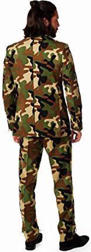 OppoSuits   Commando   Mannen Kostuum   Groen / Bruin   Carnaval   Maat 54