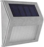 Solar LED Buitenlamp - Buitenverlichting - Zonne-Energie Met Lichtsensor - RVS