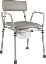 Aidapt - toiletstoel - potstoel in hoogte verstelbaar - grijs