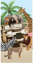 Good Morning Jeep Jungle - Strandlaken - 75x150 cm - Multi kleur