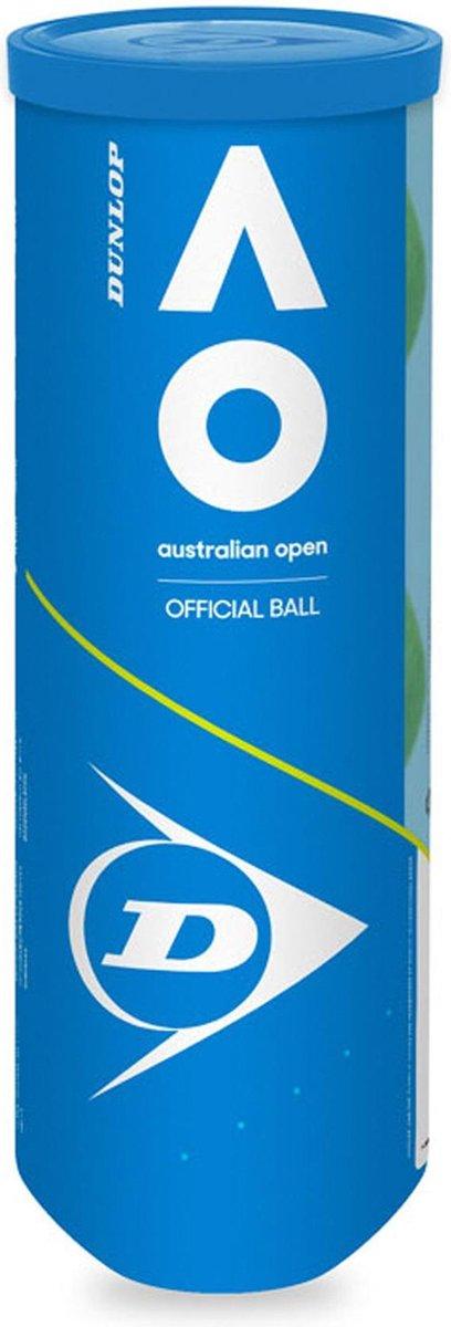Dunlop Australian Open Tennisballen - 3 stuks