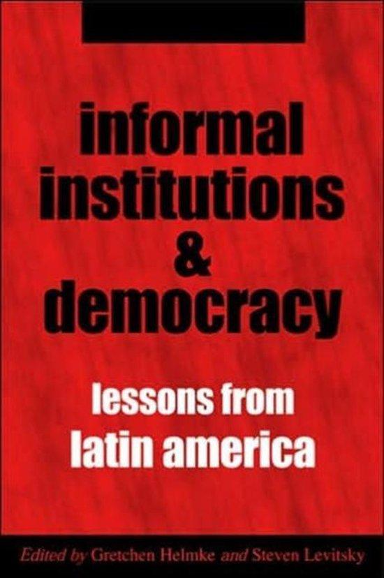Boek cover Informal Institutions and Democracy van Gretchen Helmke (Paperback)