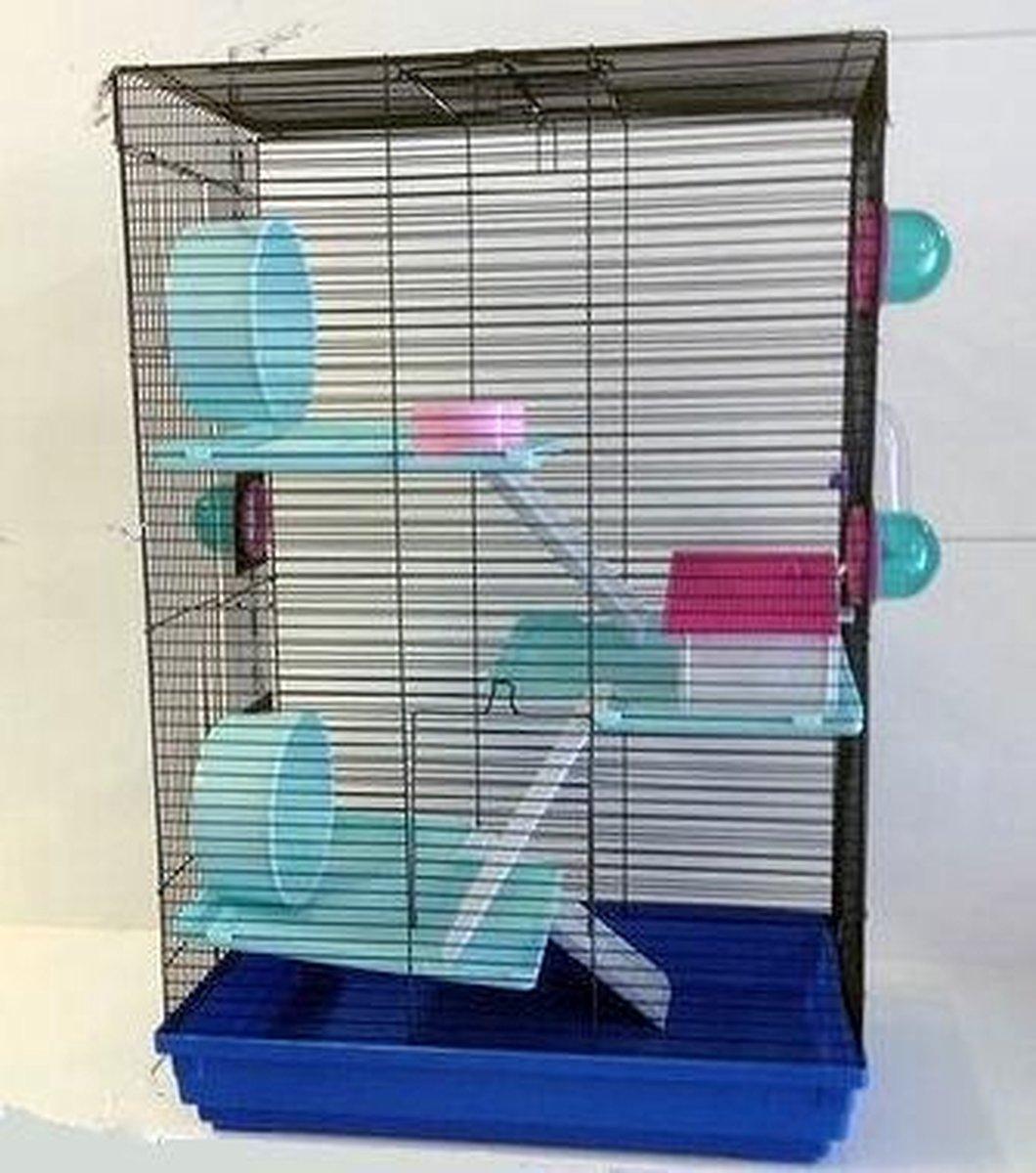 Knaagdier kooi  SKY blauw - happybird