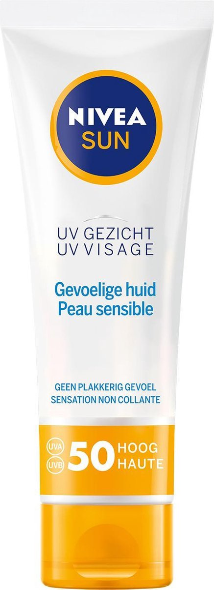 NIVEA SUN Gezicht Sensitive Zonnecr me SPF 50 - Gevoelige Huid - 50 ml
