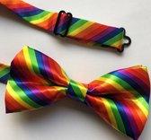 Regenboog vlinderstrikje - Vlinderdasje in kleuren van regenboogvlag - Gay pride