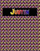 120 Page Handwriting Practice Book with Colorful Alien Cover Justin