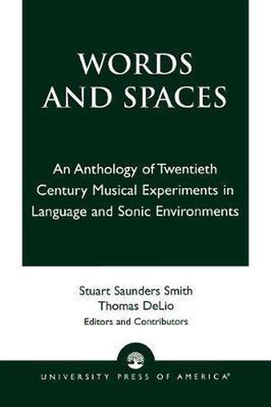 Boek cover Words and Spaces van Stuart Saunders Smith (Paperback)