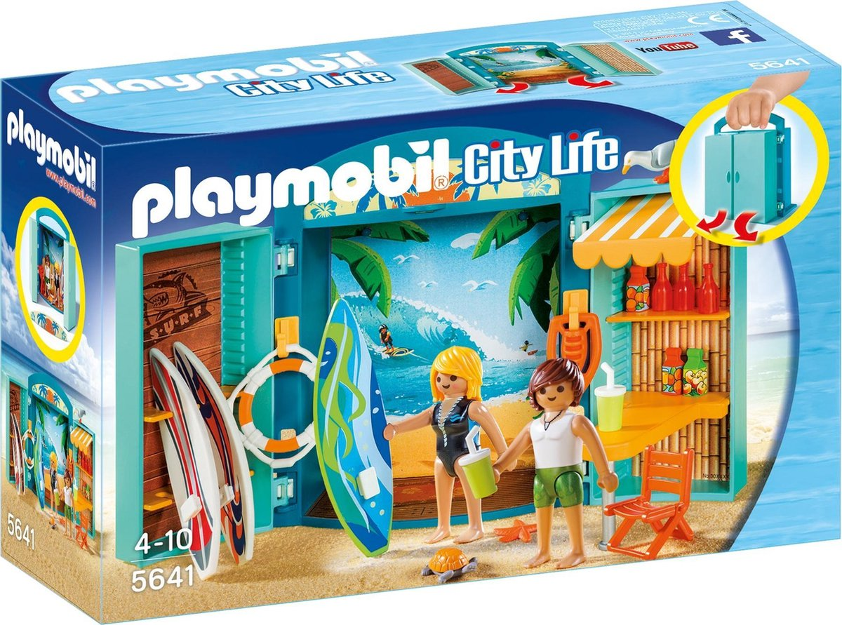 PLAYMOBIL City Life Speelbox Surfshop - 5641