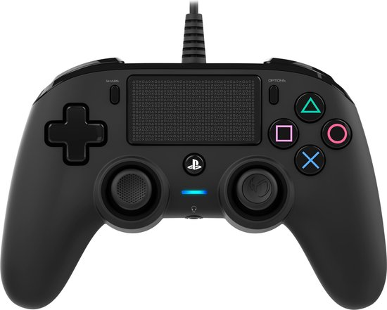 Nacon Playstation 4 Official Licensed Wired Compact Controller - PS4 - Zwart
