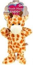Pluche handpop giraf 21 cm - Multi