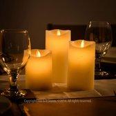 LED Wax Kaarsen Set Met Afstandsbediening - 3 Stuks