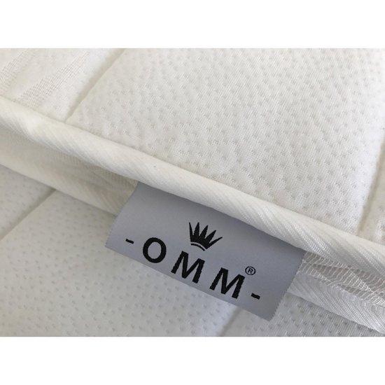 O.M.M. - Topdekmatras - Topper 130x200 - Koudschuim HR55 6cm - Medium