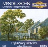 Mendelssohn: Complete String Symphonies Vol.1