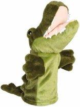 Pluche krokodillen handpop 24 cm