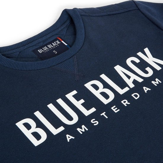 Blue Black Amsterdam Heren Trui Milan 2.0 - Donkerblauw Melange - Maat M