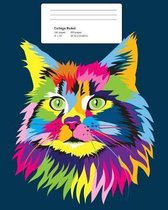 Colorful Cat Composition Notebook