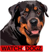 Rottweiler sticker (set van 2 stickers)