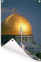 De Rotskoepel bij Jeruzalem in Israël Tuinposter 120x180 cm - Tuindoek / Buitencanvas / Schilderijen voor buiten (tuin decoratie) XXL / Groot formaat!