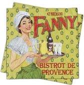 20 servetten - 33x33cm - Chez Fanny Bistrot De Provence