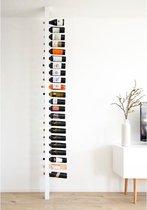 Wijnpaal Classic - Staand houten flessenrek voor 20 wijnflessen met een uniek en modern design