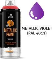 MTN metallic paarse spuitverf - RAL 4011 - 400ml spuitbus voor diverse klus doeleinden, bruikbaar op hout, plastic en metaal