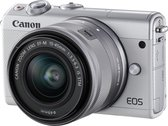 Canon EOS M100 + 15-45mm + 50GB Irista Cloud Opslag - Wit
