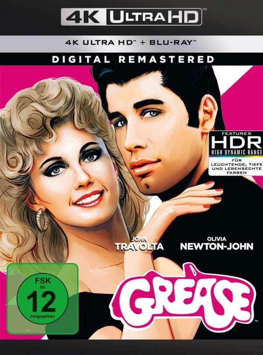 Grease (Digital Remastered) (Ultra HD Blu-ray & Blu-ray)-
