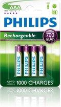 Philips Oplaadbare AAA Batterijen | 4 stuks | 700 mAh