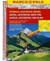Oostenrijk - Liechtenstein - Zuid-Tirol Wegenatlas Marco Polo